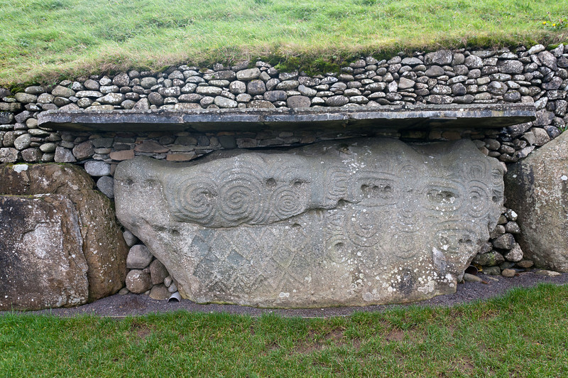 Stone fortress at Newgrange in County Meath, Ireland