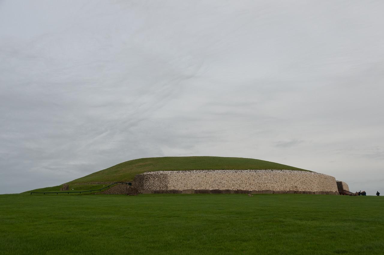 Isolated shot of Newgrange in Ireland
