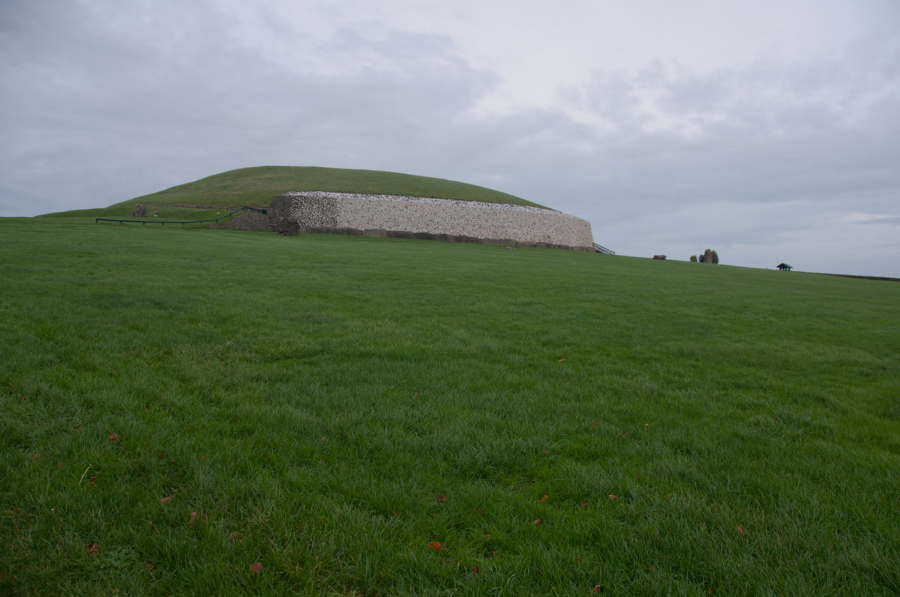 Open field surrounding Newgrange in County Meath, Ireland