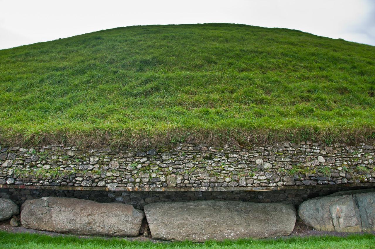 Landscape details of Newgrange in County Meath, Ireland
