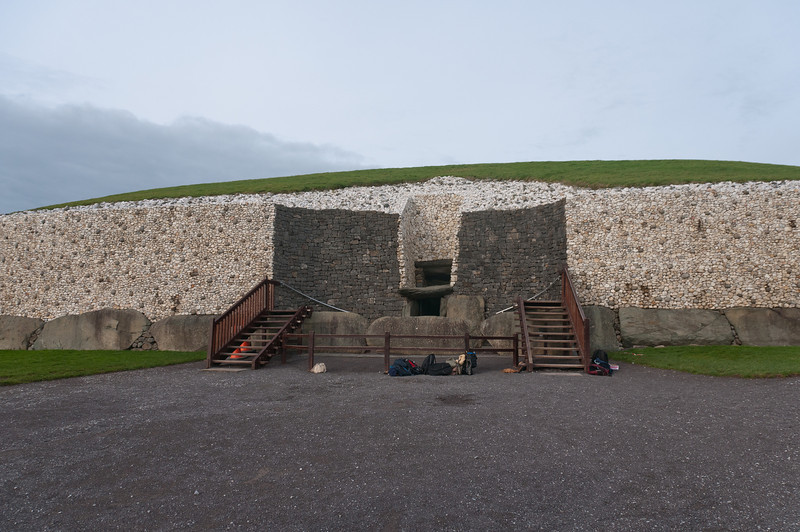 The entrance to Newgrange in Ireland