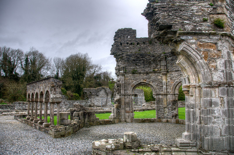 Ruins of the old Mellifont Abbey in County Louth, Ireland