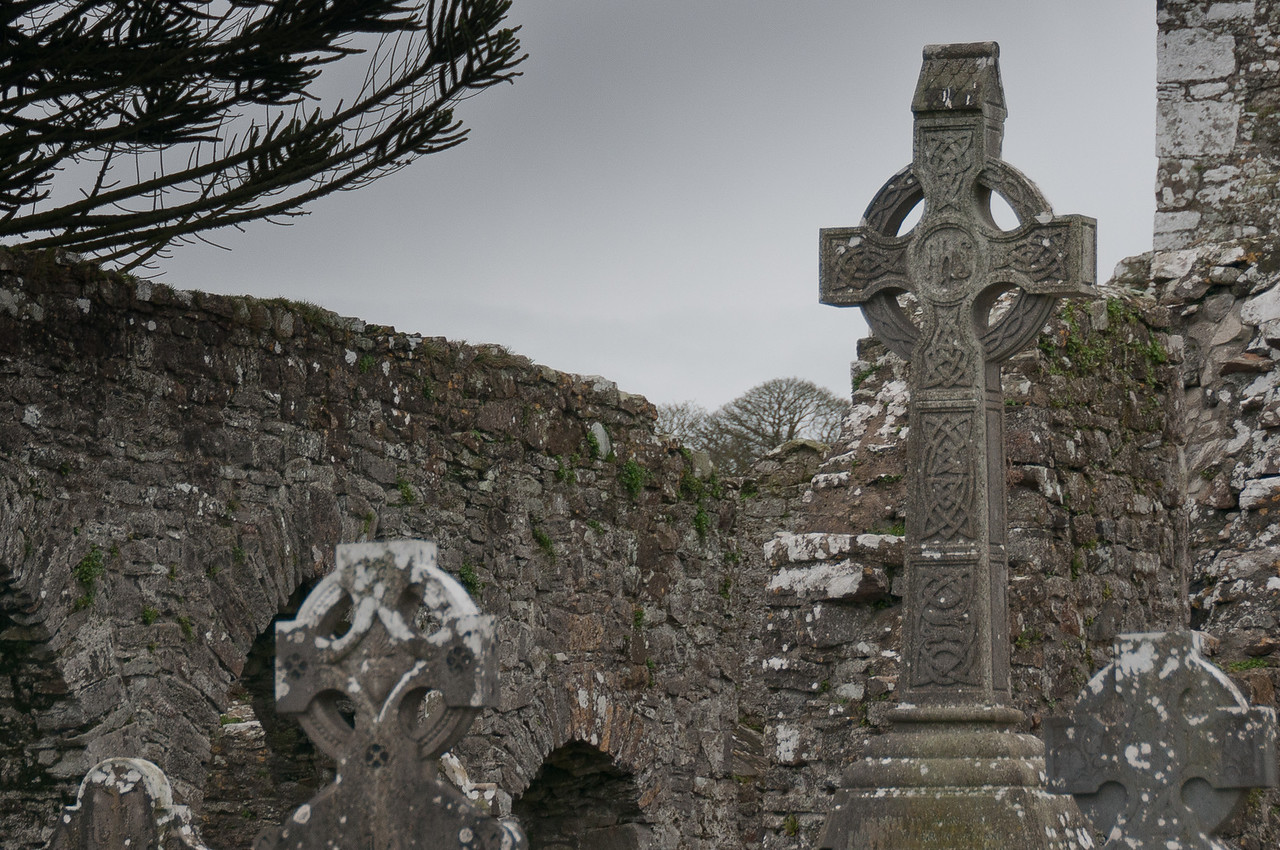 Ruins at the old Mellifont Abbey in County Louth, Ireland
