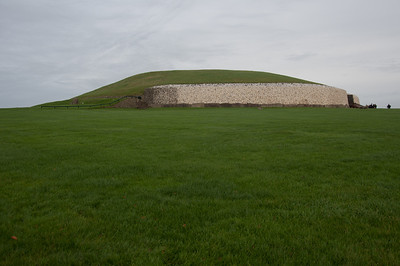 Lush fields near Newgrange in Ireland