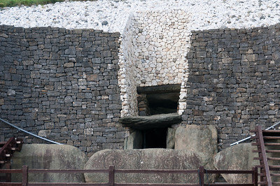 Entrance door to Newgrange in Ireland