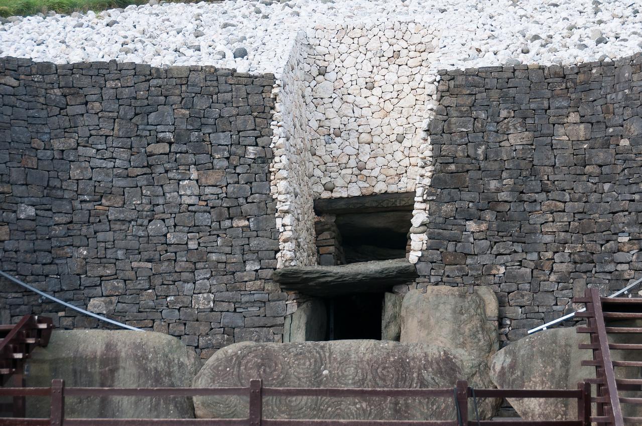 Entrance door to Newgrange in Ireland