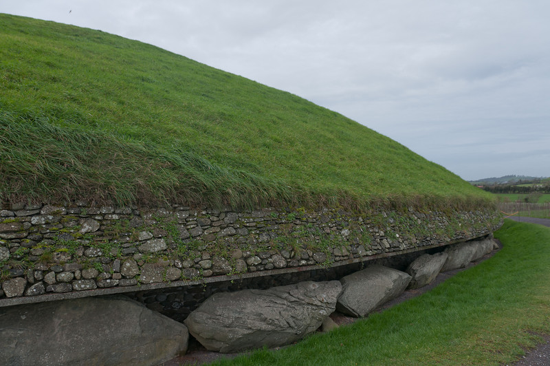 Well kept landscape surrounding the Newgrange in Ireland