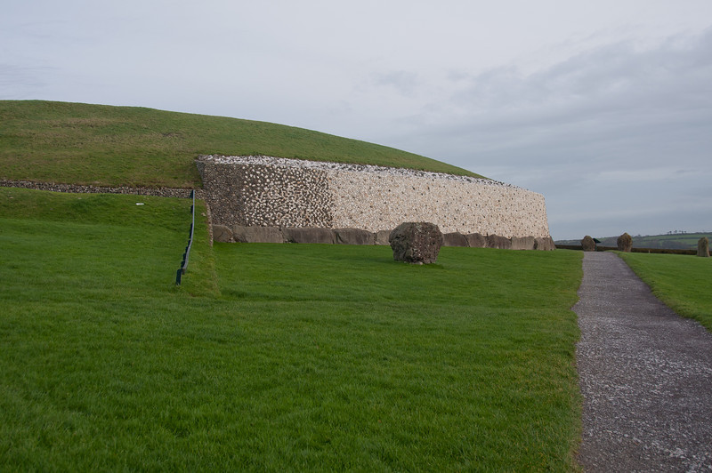 Paved pathwalk near Newgrange in Ireland