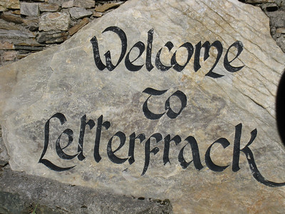 Welcome Sign to Letterfrack, Ireland