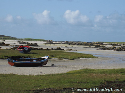 Boat on sand bed