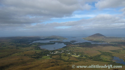 Views over Connemara and Clifden