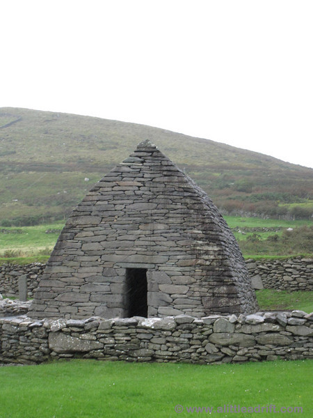 The Gallarus Oratory along the drive in Dingle.
