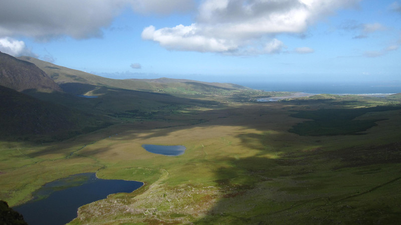 Views from driving Conor Pass in Dingle.