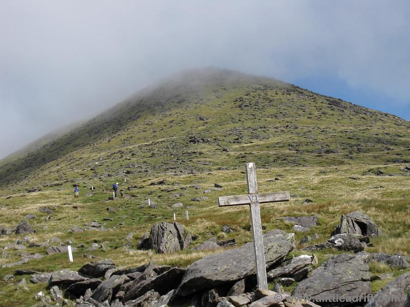 Sixth station of the cross walking on Mt Brandon