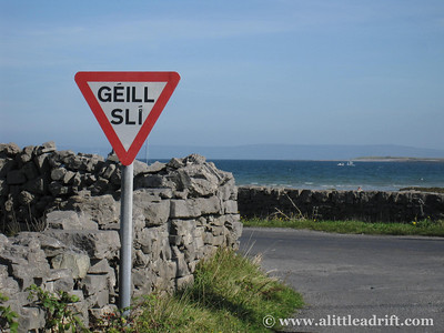 Irish sign on the Aran Islands