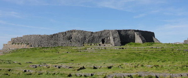 Dun Aengus Fort on the Aran Islands in Ireland