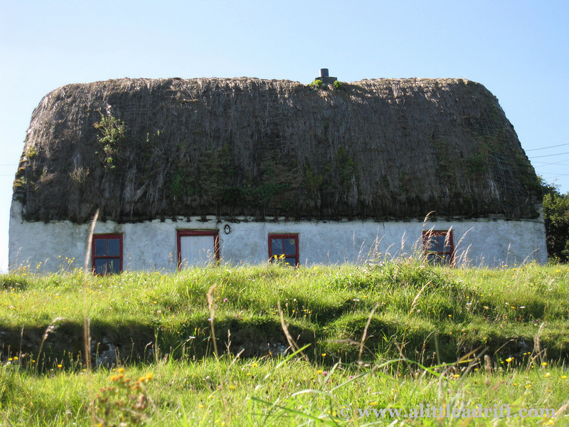thatched cottage on the Aran Islands Kilronan
