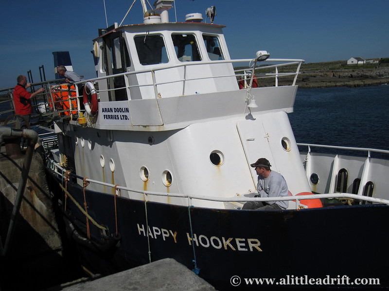 ferry from doolin to inishmore on the aran islands