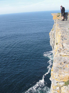 Steep Cliffs at Dun Aengus Fort