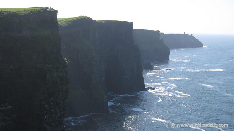 Iconic views of the Cliffs of Moher from the Visitor Center