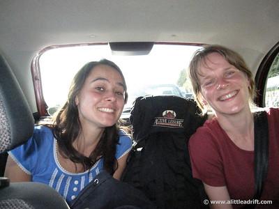 Stuffed into my mini car