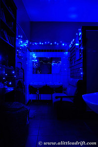 Blue Toned Bathroom, photo by Eva R, who took such lovely photos of our hostel :)