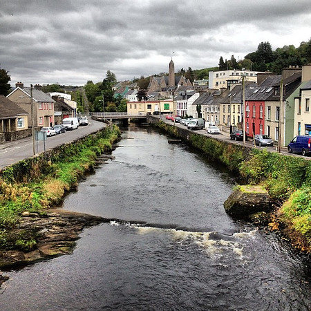 O little town of Donegal. Strips of color to brighten a gray morning. #dna2ireland
