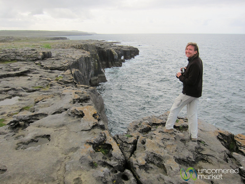 Audrey on the Cliffs of The Burren - County Clare, Ireland