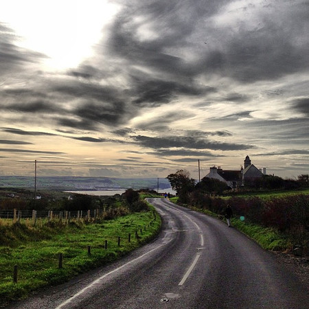 Capturing the essence of the contour of light and land...this is road trip Ireland. #dna2ireland