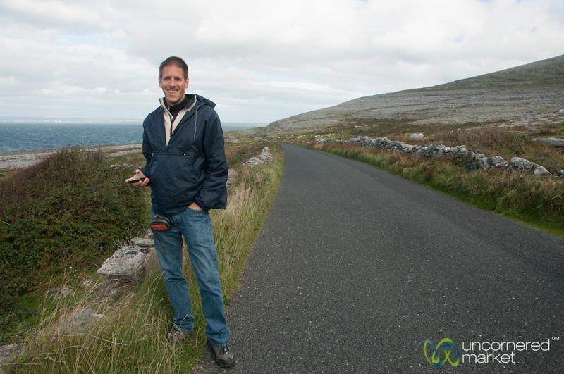 Dan Along the Burren Coastal Way - County Clare, Ireland