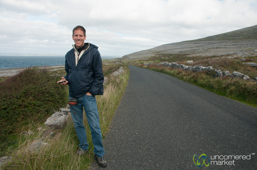 Dan Along the Burren Coastal Way - County Clare, Ireland