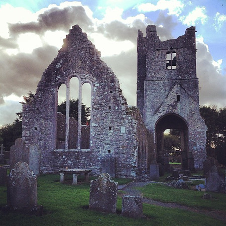Road trip Ireland. Hoping to get our fill of rubbled abbey atmosphere. This one: St.Mary's Abbey, Duleek County Meath #dna2ireland