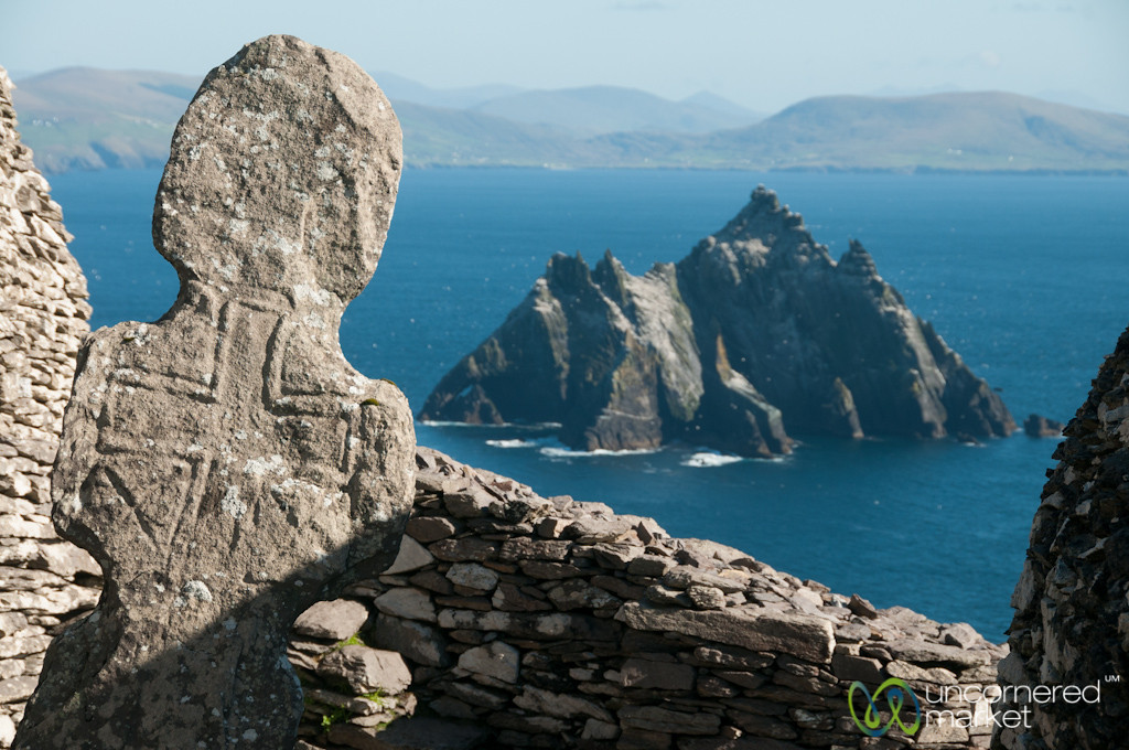 Irish Cross at Skellig MIchael - Ireland
