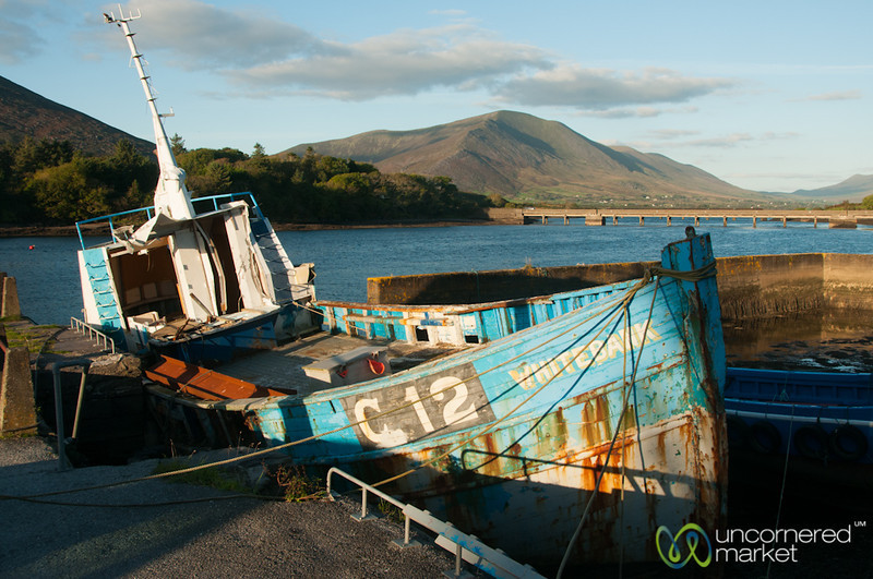 Cahersiveen Marina, Rusting Boat - Ring of Kerry, Ireland