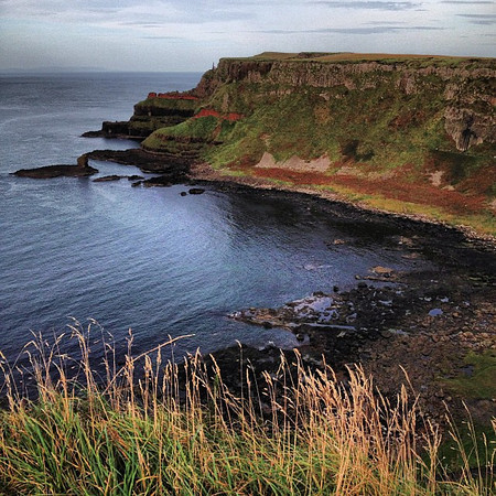 A slice of Giant's Causeway on a surprisingly clear day.  This is Northern Ireland #dna2ireland