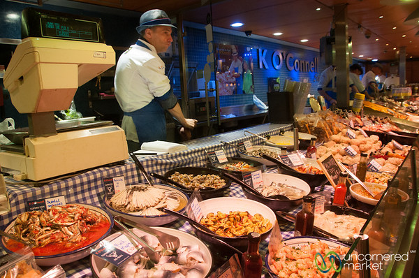 English Market, Seafood Vendor - Cork, Ireland