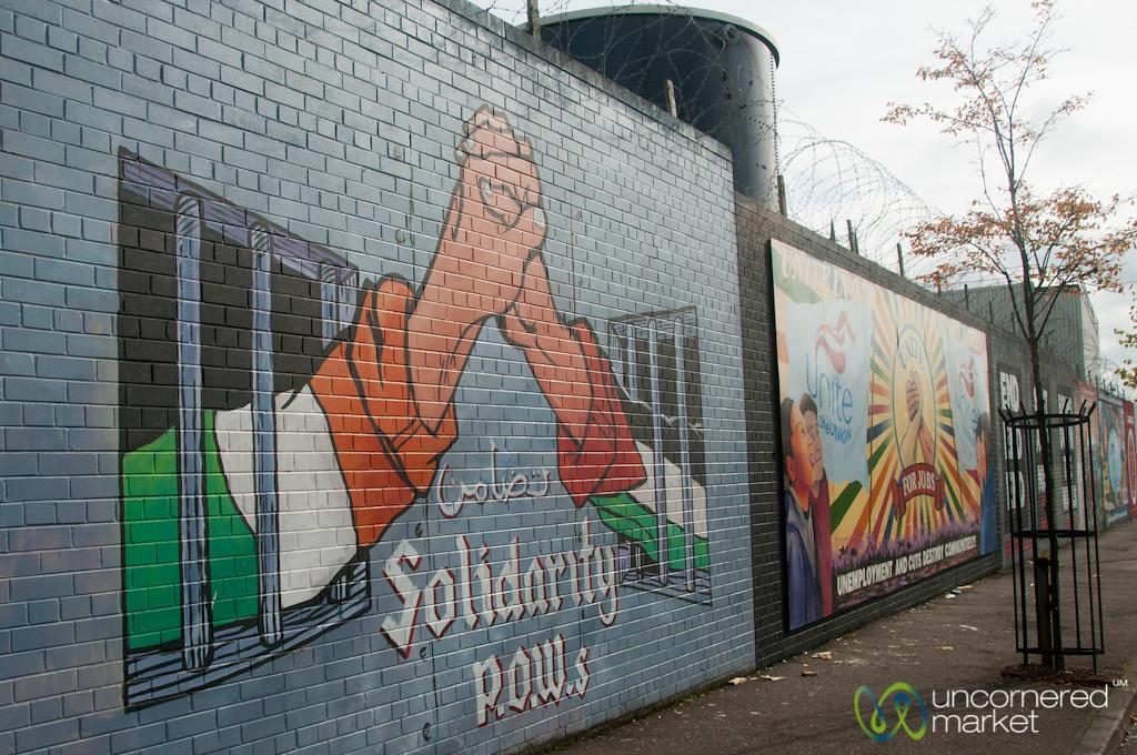 Belfast Street Murals on Peace Walls - Northern Ireland
