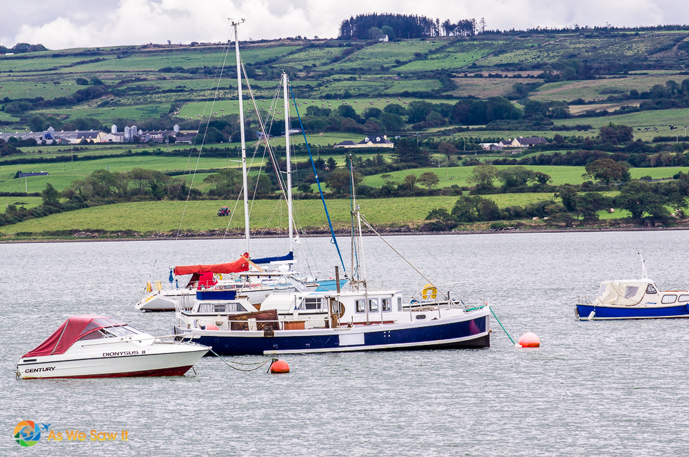 boats on the Shannon River in Ireland