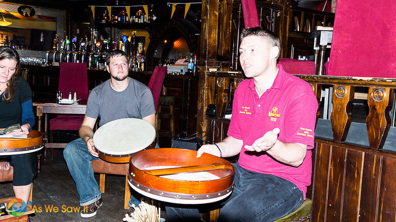Things to do in Kilkenny: Master Bodhran player teaches guests how to play the traditional Irish drum