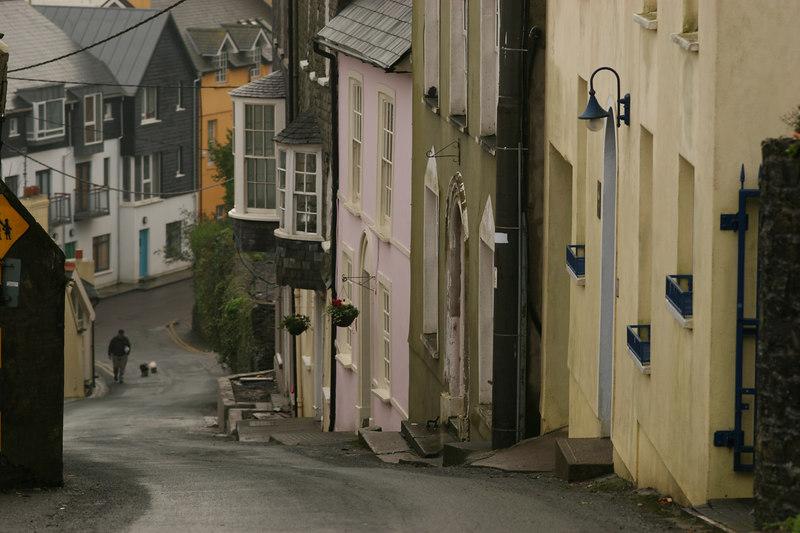 Winter streets in Kinsale, Co Cork, Ireland