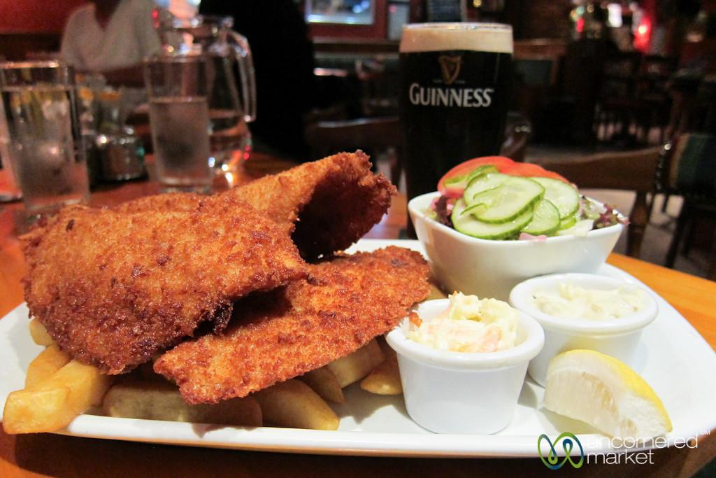 Fish and Chips at an Irish Pub - Portmagee, Ireland