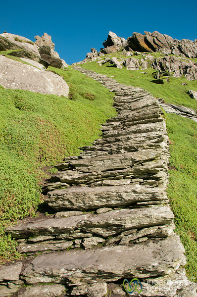 Skellig Michael, Steep Steps - Skellig Rocks, Ireland