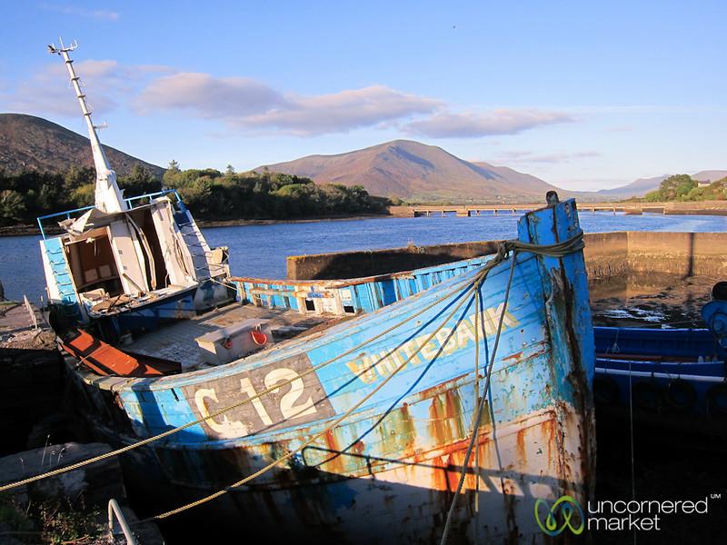 Cahersiveen Marina, Rusting Boat - Ring of Kerry, Ireland