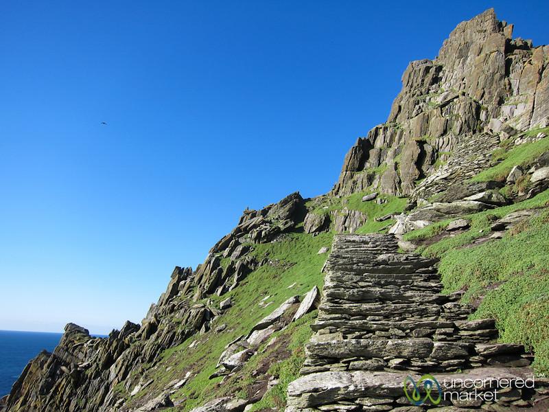 Skellig Michael, Climbing Stairs - Skellig Rocks, Ireland
