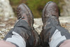 Paula's boots, thick with Wicklow mud.