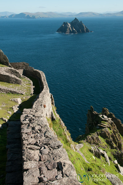 Skellig Michael, Looking to Small Skellig - Ireland