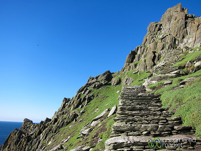 Skellig Michael, Climbing Stairs - Skellig Rocks, Ireland
