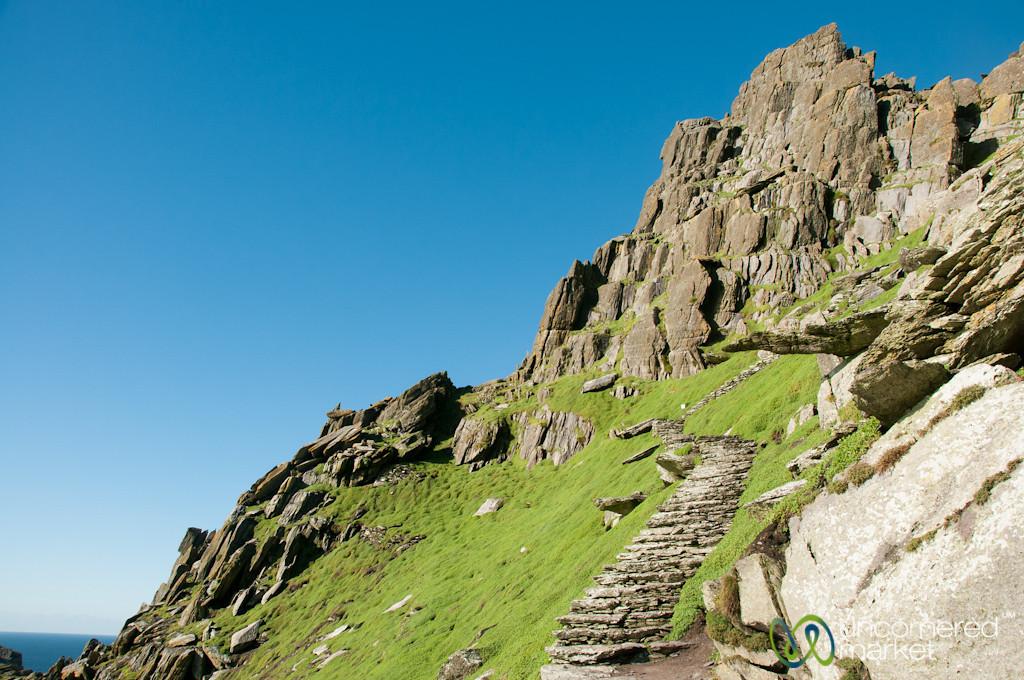 Skellig Michael, Steep Steps - Skellig Rocks, Ireland