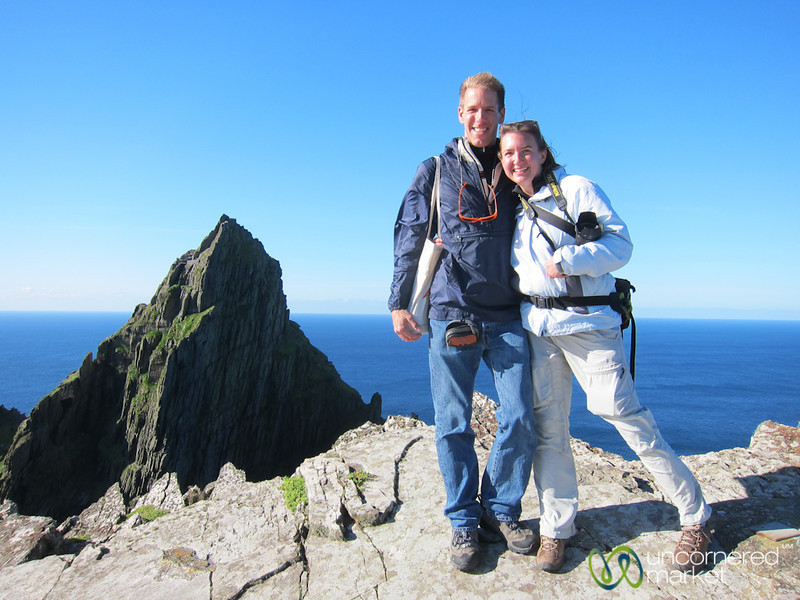 Dan & Audrey at top of Skellig Michael - Ireland
