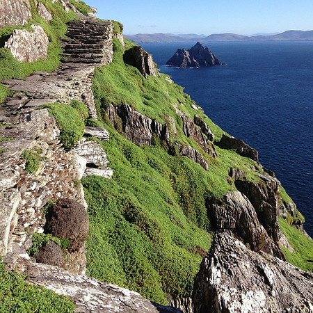 Medieval monastic staircase. Skellig Michael in the blazing sun, off the coast of County Kerry #dna2ireland